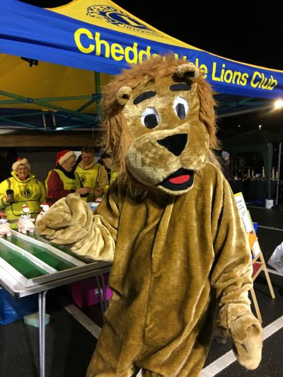 Brian the Lion at Cheddar Festive Night