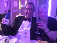 Lion Sylvia with Alan Warrell enjoying the social evening