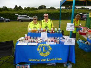 Stall at Worle Lions Funday