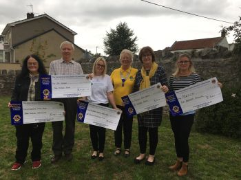Presenting cheques to local organisations Sept 2018