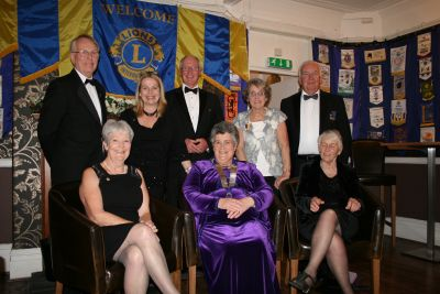 Club Members celebrate with President Janet and guests