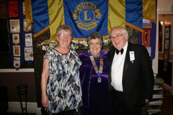 President Janet with Lions Marion & Iain