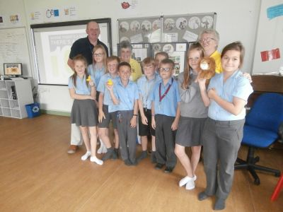 Cheddar Lions invited to talk about their work within the community at Fairlands School during their Community Week