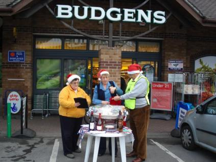 Christmas Raffle at Budgens