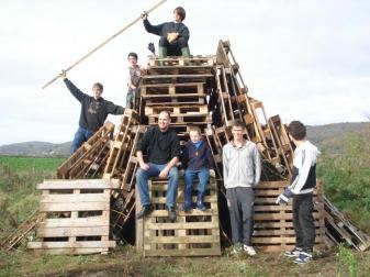 A good job done - bonfire all ready for burning