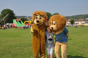 Brian the Lion with Clarence and friend