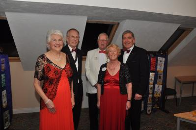 Official Party - Club President Lion Brian Airey & Pam, District Governor Lion Clif & Lion Marjorie with Charter Member Lion Norman