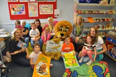 'Storytime' with 'Brian' and friends at Cheddar Library