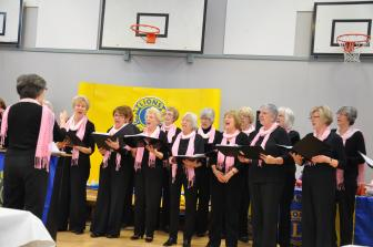 Cheddar U3A Ladies Choir entertain