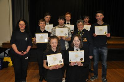 Young Leaders in Service Awards for Cheddar Valley Music Club