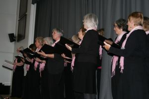 Entertainment from the Ladies U3A choir