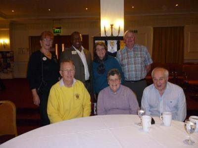 Cheddar Lions with District Governor & International Guest