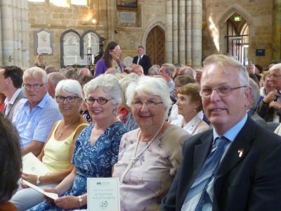 Lion Brian Airey & wife Pam join with others from across the South West at the special service of thanksgiving