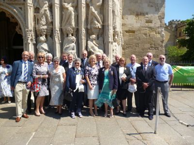 Lion President Janet, Lion Brian & Pam join with other Lions from across the South West