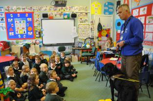Richard Llewellyn at Cheddar First School