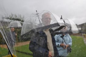 Thank goodness for see through umbrellas