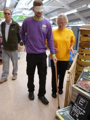Cheddar Garden Centre staff experiencing being without sight